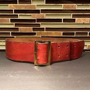 Etienne Aigner Vintage Leather Belt Size 30